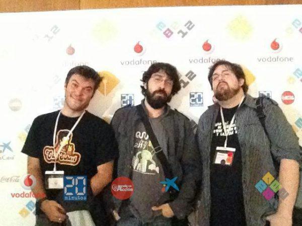EBE 2012 — Photocall junto con David Rodríguez y Juan Jesús Velasco