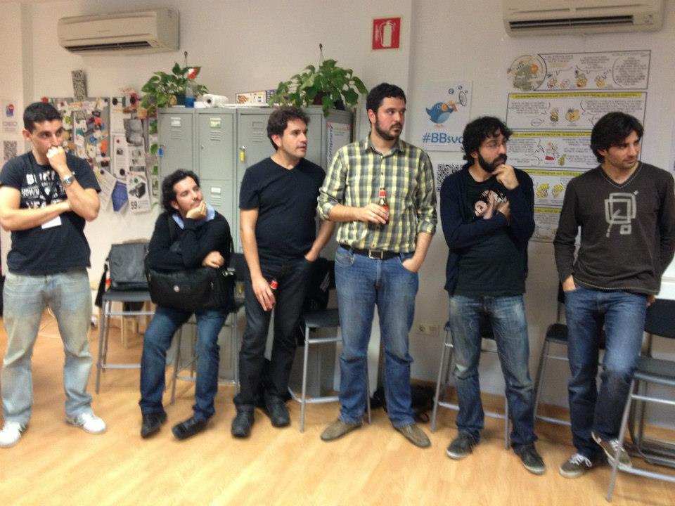 Betabeers en WorkInCompany 2013 — Junto a Juan Vazquez, Félix Ontañón, Ildefonso Montero y Manuel Recena