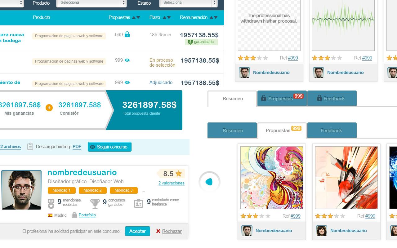 Ejemplo de diseño de componentes de la interfaz de usuario